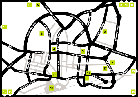 City Poems Leeds map